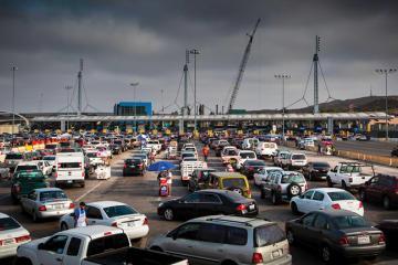 A movement against vendors at the San Ysidro border crossing...