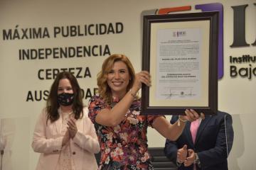 Marina del Pilar recibe constancia de mayoría por parte del IEEBC
