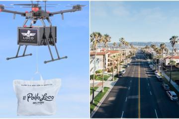 Con drones El Pollo Loco entregará sus pedidos en California