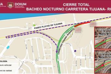 Anuncian cierre total de vialidad a caseta de cuota Tijuana-Rosarito