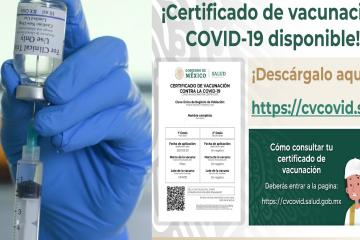 Así puedes descargar tu certificado de vacunación