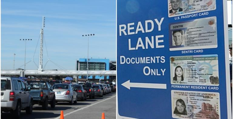 Types of lines at the San Ysidro border crossing and their rules