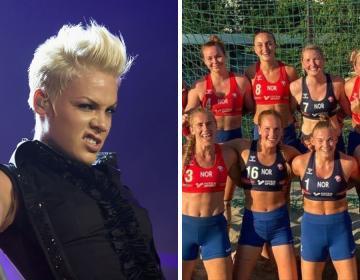 Pink ofrece pagar multa de selección noruega femenil de balonmano...