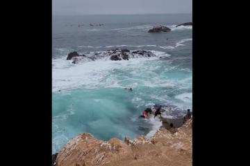 Turistas casi se ahogan en La Bufadora