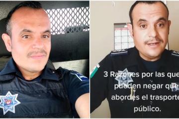 Conoce al policía tijuanense que utiliza TikTok para informar