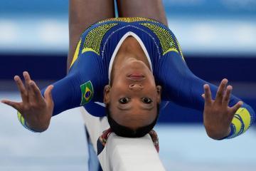 Rebeca Andrade, primera gimnasta latinoamericana en obtener medalla...