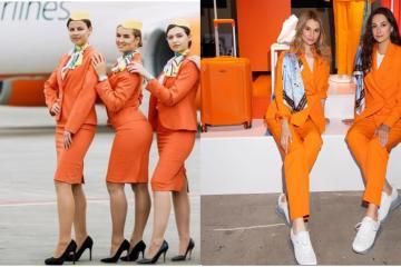 Azafatas ucranianas cambian uniformes sexistas por traje y tenis