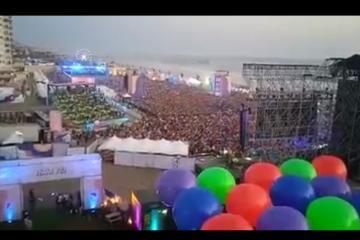 Así el primer día de Baja Beach Fest en Rosarito