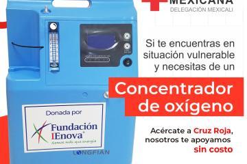 Cruz Roja de Tijuana prestará concentradores de oxígeno, gratis
