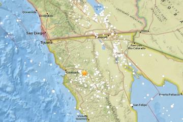 Registran temblor en Ensenada y un enjambre sísmico en San Felipe