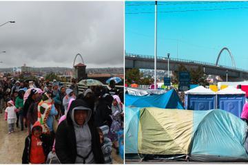 EEUU presiona para remover campamento migrante de Tijuana
