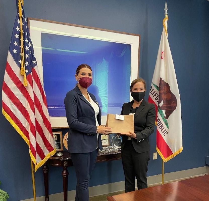 Reunión entre la Gobernadora Electa Marina del Pilar y la Vicegobernadora de California, Eleni Kounalakis