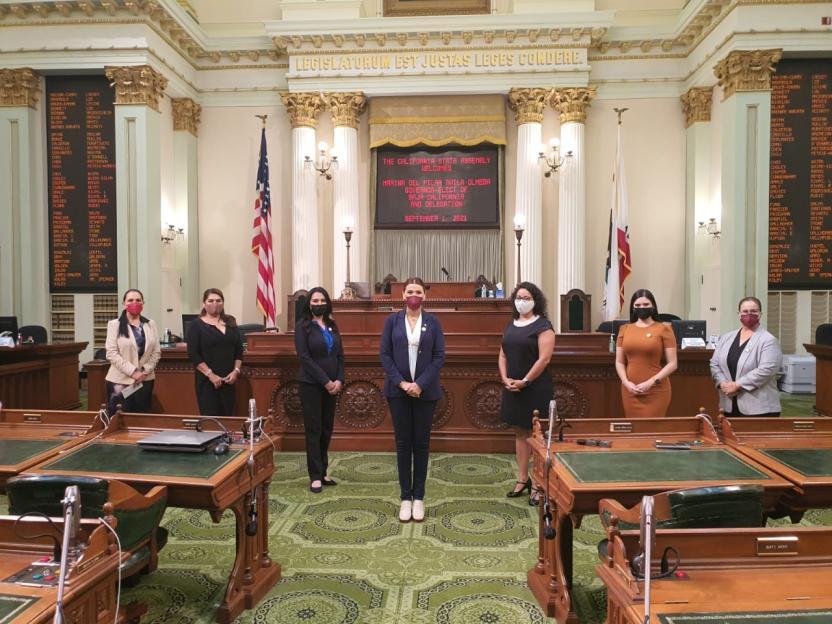 Meet and Greet con la Bancada Legislativa de Mujeres en el Pleno de la Asamblea de California y presentación de la Gobernadora Electa Ávila en el Pleno de la Asamblea de California