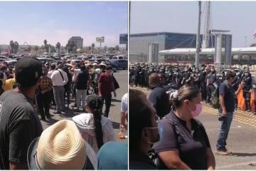 Cierran totalmente garita de San Ysidro por manifestación migrante