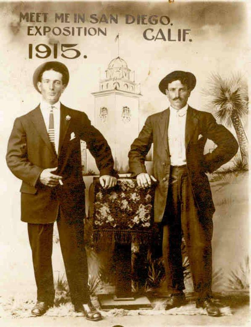 A commemorative postcard from the 1915 Panama-California Exposition held in Balboa Park.