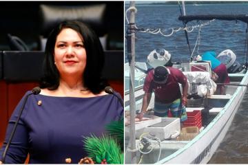 Senadora Alejandra León en contra de criminalizar a pescadores en...