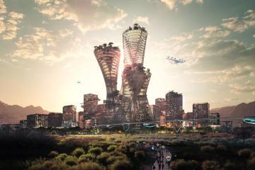 Construirán ciudad futurista libre de contaminación en desierto...