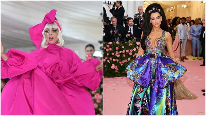Lady Gaga y Dua Lipa en la Met Gala, 2019