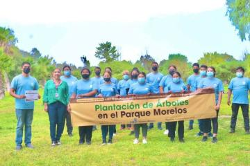 SIMPATT y voluntarios siembran mil árboles en Parque Morelos