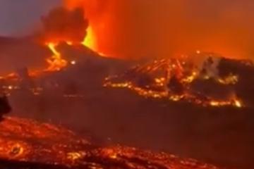 Impresionantes imágenes de la erupción volcánica en La Palma