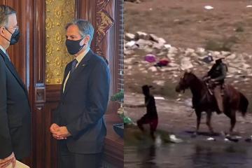 Abordan Ebrard y Antony Bliken crisis migratoria entre México y...