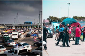 Llaman a manifestarse para remover a migrantes de garita Tijuana-...