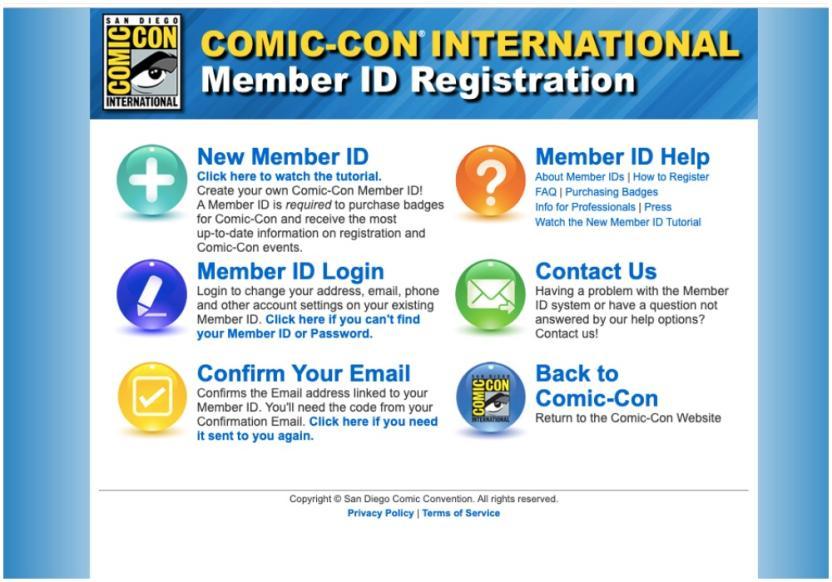 Comic -Con Página Web