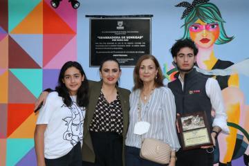 Tijuana Mayor Karla Ruiz Macfarland unveils plaque in her honor in...