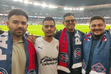 México-americanos visitan París para apoyar al PSG