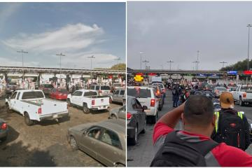 Long lines reported for motorcyclists at Tijuana-San Ysidro border...
