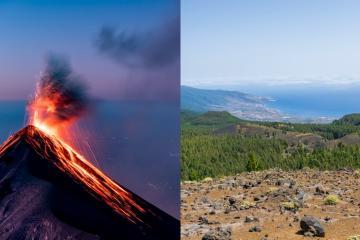 Volcán español en La Palma vuelve a hacer erupción después de...