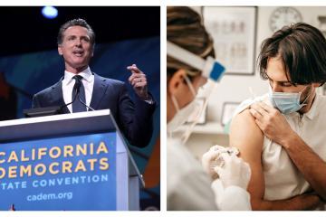 Gobernador de California ordena vacunar contra COVID-19 a todos los...