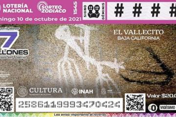 Lotería Nacional imprime billete con pinturas rupestres de Baja...