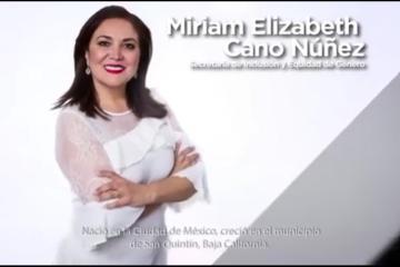 Miriam Elizabeth Cano Núñez encabezará la Secretaría de...