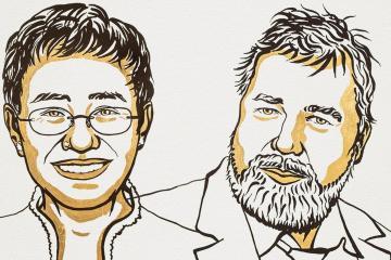Periodistas de Rusia y Filipinas ganan Premio Nobel de la Paz