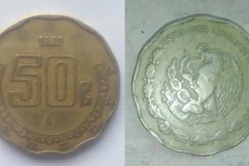 Venden moneda de 50 centavos en Internet por casi 9 mil pesos