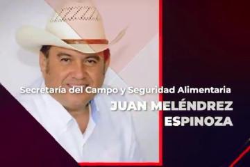 Juan Meléndrez Espinoza es nombrado secretario del campo y...