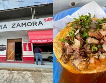 """Tacos de birria de chivo de """"Birrieria Zamora"""" en Tijuana..."""