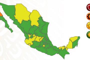 Baja California es la única entidad en nivel naranja del semáforo...