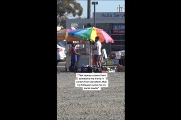 Joven de San Diego le regala 1000 dólares a un vendedor ambulante