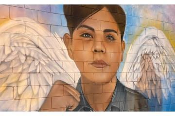 Realizan en Playas de Rosarito mural en honor a Brian Efren Cortez