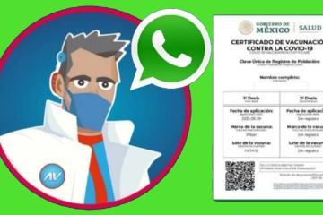 Así puedes obtener tu certificado de vacunación por WhatsApp sin...