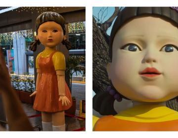 Colocan muñeca de El juego del calamar en semáforo de Filipinas
