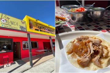 Taquería deleita a Tijuana con su taco de carnitas en tortilla de...