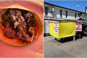 Los tacos de birria de cabeza y lengua de esta taquería en Tijuana...