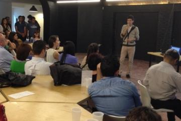 BINATIONAL startups get one–minute pitch