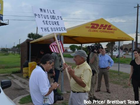 One of the Texas ports of entry had a turnout of five protesters.