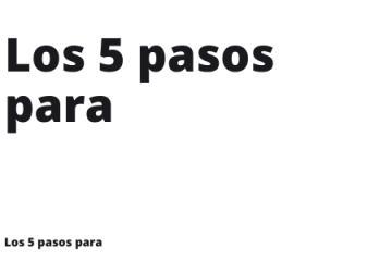 Los 5 pasos