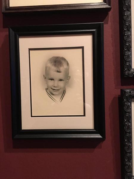 Retrato de Guillermo del Toro cuando era niño