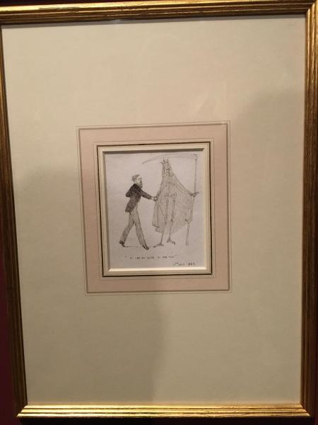 Dibujo de Charles Altamont Doyle, padre de Arthur Conan Doyle